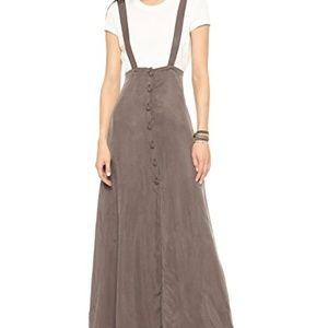 Flynn Skye Sandwash Moss Maxi Button Front Skirt 2